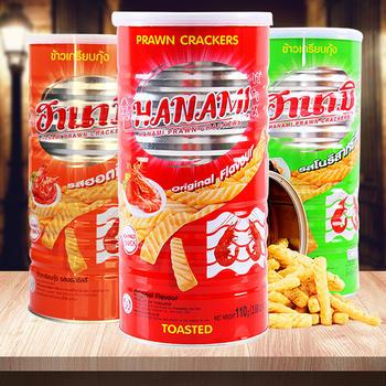 卡乐美 虾味条110g/罐 泰国进口膨化零食大罐虾片