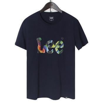 Lee 男士炫彩印花LOGO圆领纯棉短袖T恤 L329922LQB8D
