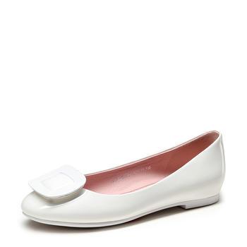 卓诗尼新款秋季单鞋女韩版平底鞋子船鞋百搭女鞋婚鞋