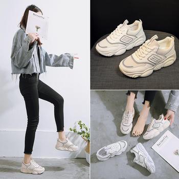 安欣娅新款时尚气质小熊鞋底?#35748;?#22899;鞋运动鞋