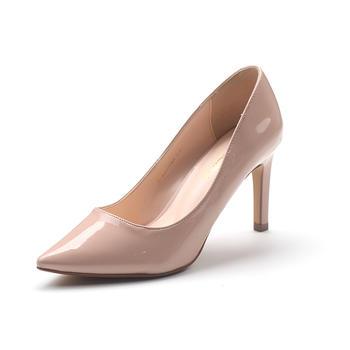 珂卡芙春秋季新款正品漆皮尖头细跟高跟浅口女单鞋