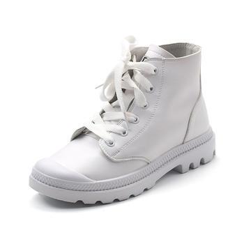 珂卡芙女鞋休闲舒适单鞋厚底板鞋圆头单鞋