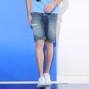 Lee 男士春夏新品牛仔五分短裤L246402HN4ML