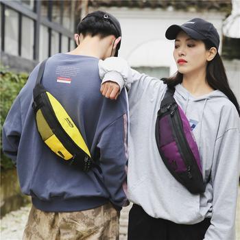 萨兰丹迪韩版斜挎包男腰包女胸包运动小包跑步手机包