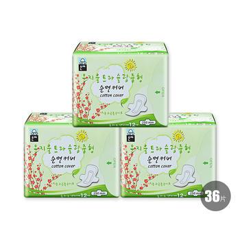韩国•恩芝Eunjee超薄日用卫生巾250mm/12P*3