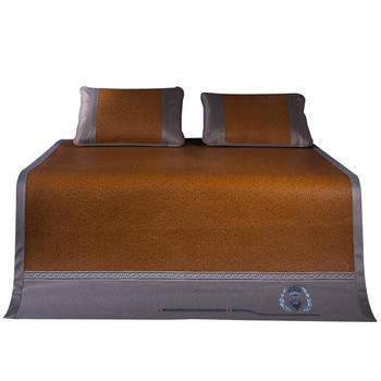 夏凉席1.8m床折叠三件套加厚藤席1.5?#23039;?#20154;刺绣夏季