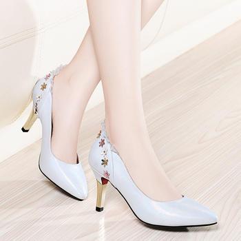 女尖头新款冬新款春夏细跟高跟鞋