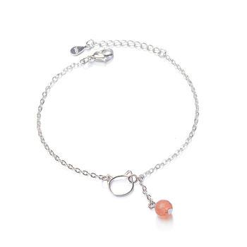 甜美草莓晶猫咪手链闺蜜礼物时尚气质百搭
