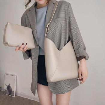 雅涵欧美时尚简约女包潮流百搭子母包单肩斜挎包包