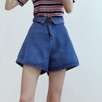 兰菲港风时尚文艺小清新春夏新款高腰显瘦短裤