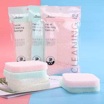 拉美拉 2片装海藻洁面扑乳胶方形洗脸扑亲水性卸妆棉