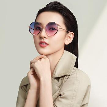 帕森太阳镜 宋祖儿明星同款无框尼龙镜片韩版潮墨镜