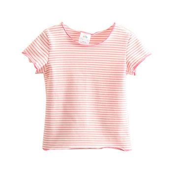 贝壳元素夏季女童条纹短袖T恤txa316