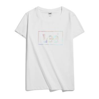 Lee 新款女士圆领纯棉短袖LOGOT恤 L36862K99K14