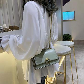 雅涵韩版新款链条女包百搭锁扣包单肩斜挎小方包