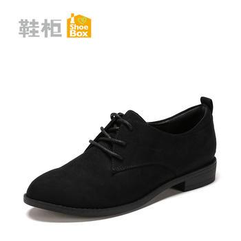 达芙妮旗下新款系带平底深口休闲女单鞋1117404275