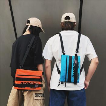 萨兰丹迪网红小包双肩背包百搭橙色信封包邮差蹦迪包