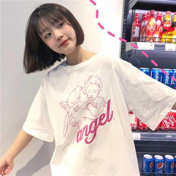 美丽后2019减龄新款宽松韩版BF风T恤上衣百搭