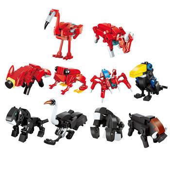 启蒙丛林系列益智拼装积木玩具幻变战队丛林法则