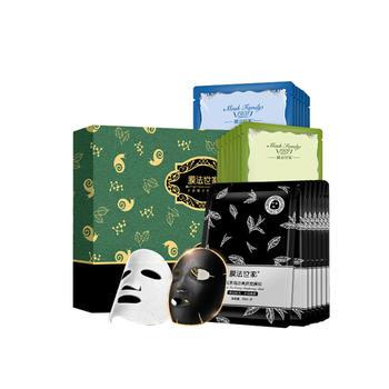中国•膜法世家水润焕采蚕丝面膜贴 经典礼盒 21片装