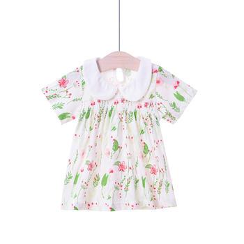 谷斐尔女宝宝夏装纯棉外出公主上衣衬衫衬衣婴儿