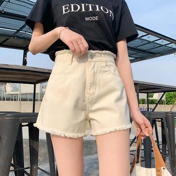 黑色牛仔短裤女春夏Z953新款韩版显瘦高腰热裤宽松