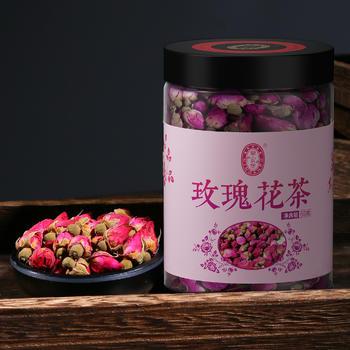 宁安堡 玫瑰花茶 平阴干玫瑰花草茶玫瑰花蕾茶配枸杞