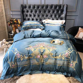 苏娜国际(SUNA)100s海岛棉四件套贡缎刺绣被套欧式全棉