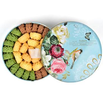 香楠曲奇饼干270克礼盒装网红休闲软零食咖啡原味抹茶