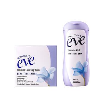 美国•夏依敏感型女性专用洗液237ml+女性清洁湿巾16片