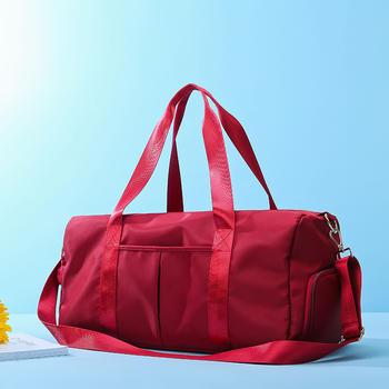 萨兰丹迪防水时尚健身包韩版独立鞋位旅行袋