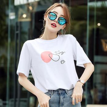 韩范新款纯棉短袖t恤女装韩版宽松半袖体恤
