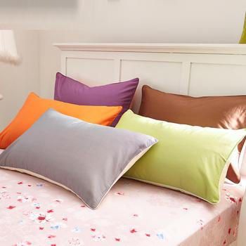 苏娜国际(SUNA)全棉舒适枕套一只装全棉纯色枕套