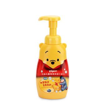 贝亲儿童洗发沐浴2合1350ml泡沫型 泡沫细腻 温和舒适