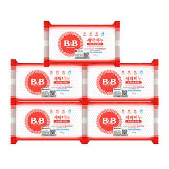 B&B 婴幼儿衣物尿布清洁洋槐香皂 200g*5