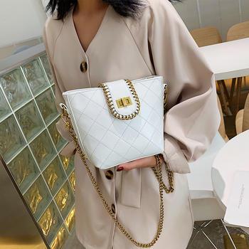 雅涵欧美时尚绣线女包单肩锁扣包百搭斜挎包包
