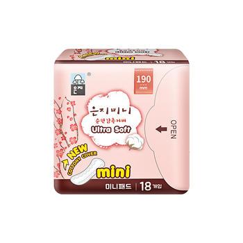 韩国原装进口恩芝(Eunjee)纯棉迷你卫生巾 180mm*18片