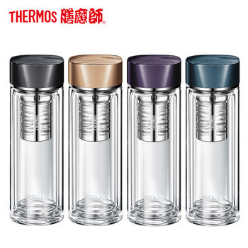 膳魔师双层高硼硅隔热玻璃杯 TCGB-400