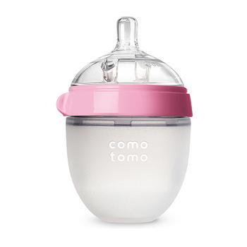 comotomo可么多么硅胶防摔婴儿断奶奶瓶150ml粉色