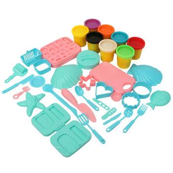 【8色粘泥套装】趣味环保彩泥套装多种模具百变创意