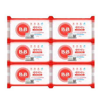 B&B 婴幼儿洗衣尿布清洁洋槐香皂 200g*6