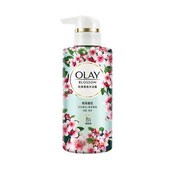 OLAY玉兰油沐浴花漾香氛沐浴露 和风樱花300克 香水沐浴