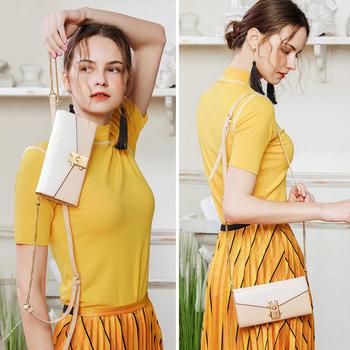 纽芝兰夏季简约时尚手拿单肩女包韩版斜挎链条小包