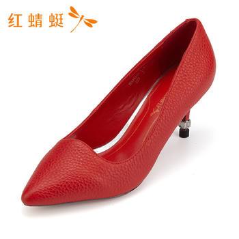 红蜻蜓时尚百搭细高跟单鞋女B83581