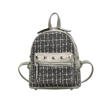 宾尼兔韩版新款双肩包女潮流铆钉休闲学生书包小背包