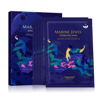 香蒲丽 海洋玻尿酸面膜 5片/盒 提拉紧致 深润补水