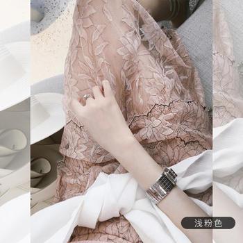 张大奕 蕾丝半裙夏女名媛网纱拼接蛋糕裙时尚半身裙