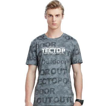探拓 夏季户外运动迷彩速干T恤短袖男款