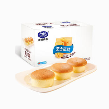 港荣 芝士味蒸蛋糕整箱900g独立小包装早餐糕点手撕
