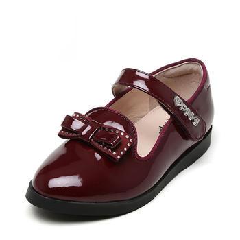 鞋柜shoebox苹绮女童小皮鞋中小童镜面单鞋